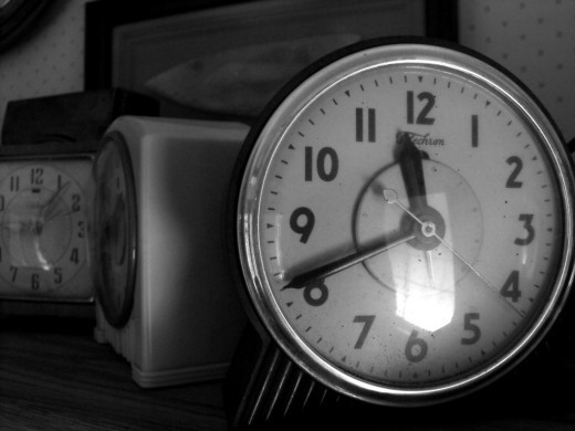 Black and White Clocks