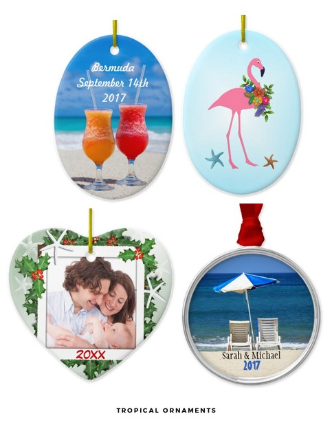 Tropical Christmas Ornaments
