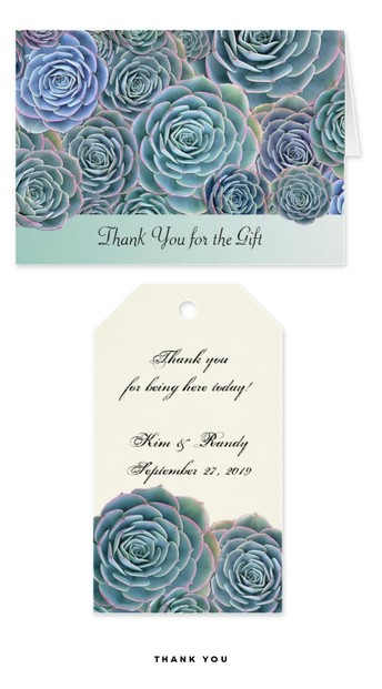 Thank you cards and tags
