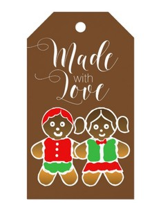Made with Love Cookies Gift Tag