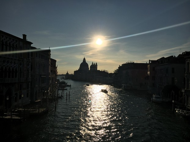Morning over the Accademia Bridge in Venice
