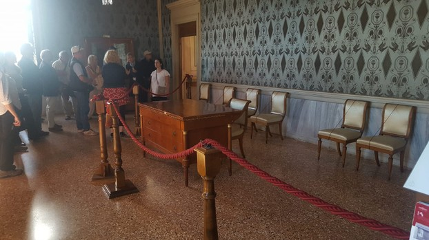 The room where Hitler and Mussolini met