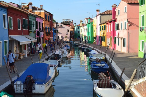 Burano bridge view