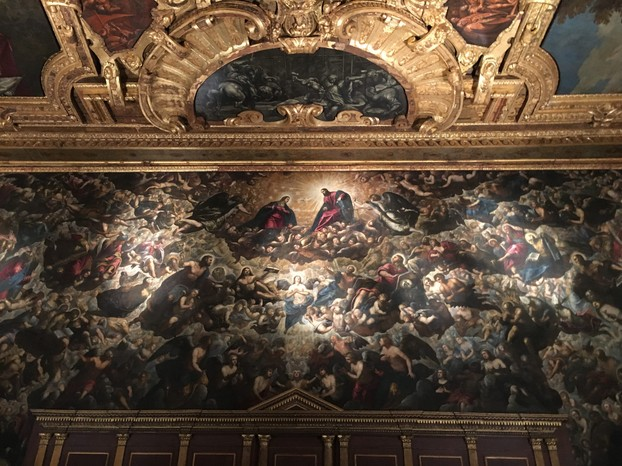 "Tintoretto's ""Paradise"" in the Ducale Palace...the largest painting on canvas in the world"