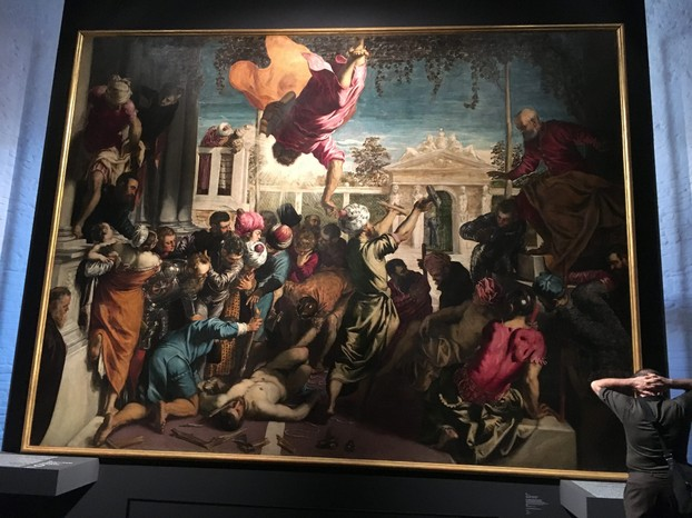 "Tintoretto's stunning ""Miracle of the Slave"" on display at the Accademia"