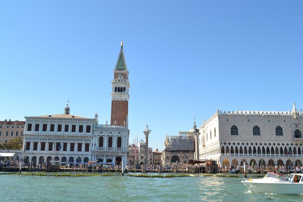 A view of St. Mark's Square and the Ducale Palace from the water