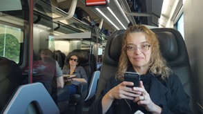 On the train to Ravenna