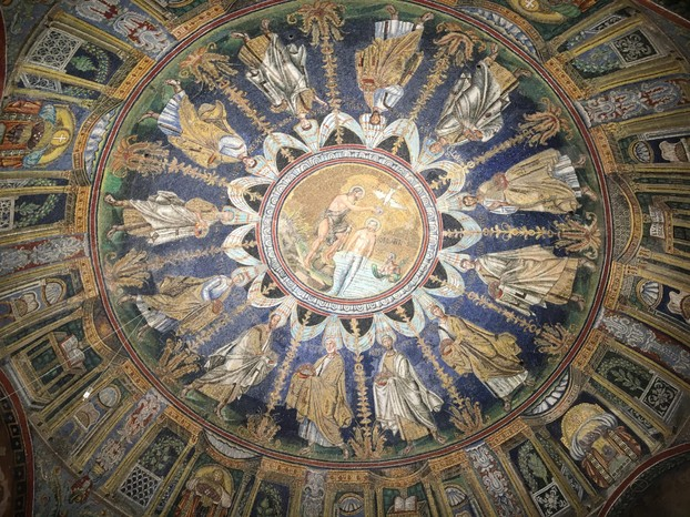 Mosaics on the ceiling of the baptistery