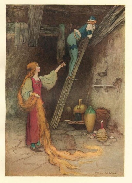 The Parsley (old version of Rapunzel) by Warwick Goble
