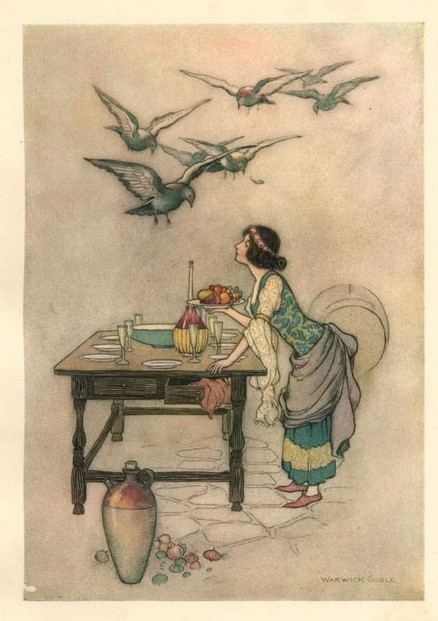 Seven Doves (older version of Seven Ravens) by Warwick Goble