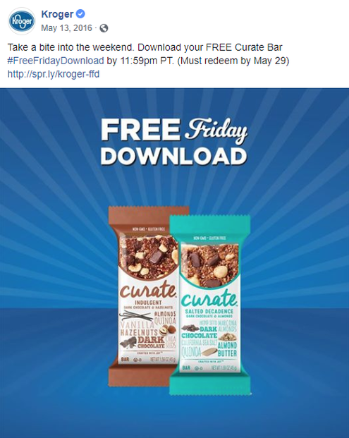 Kroger's Friday download for May 13, 2016