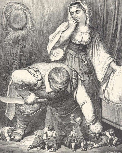 little-thumb-caught-by-ogre-gustave-dore