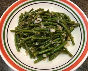 Cold, herb-flavored marinated green beans from Marcella's Italian Kitchen