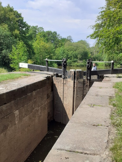 Lock gate on the canal
