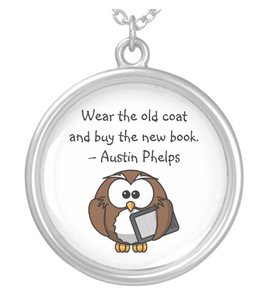 Old coat, new book, cute owl