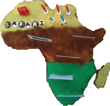 How to make an Africa Cake with Template and Instructions