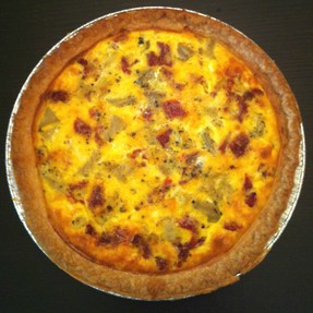 Recipe Card: Chicken, Artichoke Heart & Sundried Tomato Quiche
