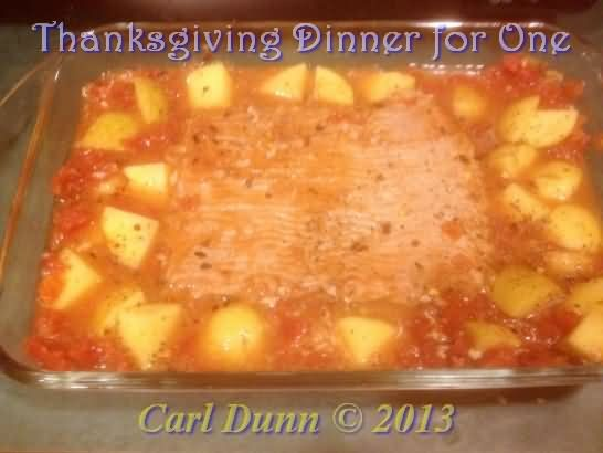 Easy Thanksgiving Meal For One