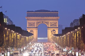Champs Elysees to Arc de Triomphe