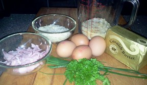 Ham & Egg Pie Ingredients