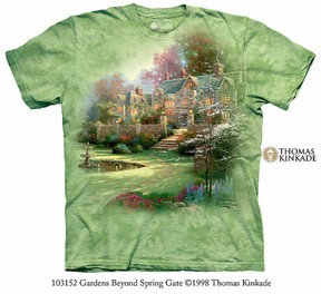 The Mountain Thomas Kinkade Garden Gate Tee