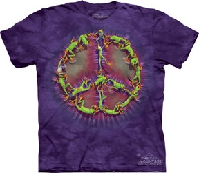 The Mountain Tie Dye Frog Peace Tee