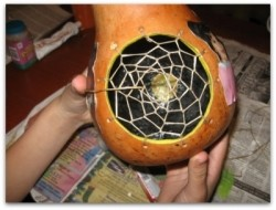 Step by Step Directions on How to Make a Dreamcatcher Gourd