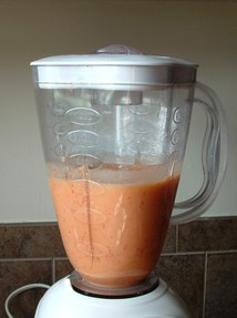 blended peaches