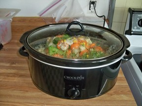 soup cooking in crockpot