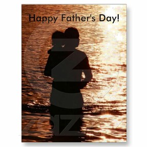 Silhouette of Father and Child
