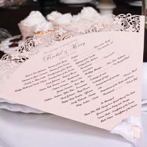 Make your own wedding fan programs wedding paper divas for Www wiltonprint com favor templates