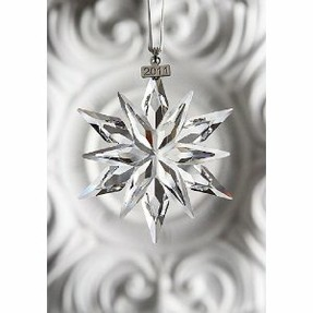 Swarovski Crystal Annual Christmas ornament 2011