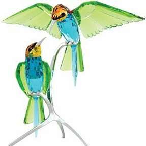 Swarovski Crystal Bee Eaters Bird Sculpture Figurine
