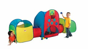 Your kids are going to really enjoy the space that the huts and tunnels provide them to crawl around in and hide underneath the balls.  sc 1 st  Wizzley & Playhut Tents - The Mega Playland