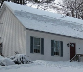 24 inch snow fall, roof cleared