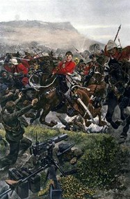 The charge at the Battle of Elandsberg.