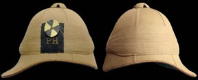 The pith helmet ~ note back and front peaks