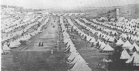 A typical British Boer War Concentration Camp
