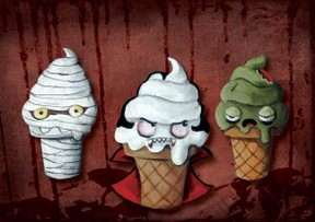 Halloween Ice Cream Team is watching You!