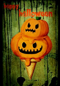 Halloween Pumpkin Ice Cream