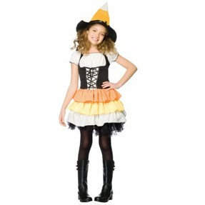 Candy Corn Witch Costume for Kids