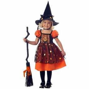 Pretty Pumpkin Witch Costume