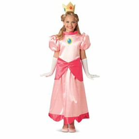 Girls Princess Peach Costume