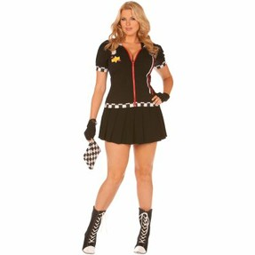 Plus Size Racer Girl Costume
