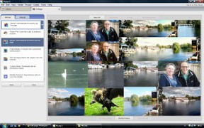 Picasa 3 Mosaic with types opened