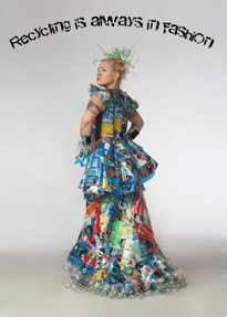 A truly recycled dress--totally green.