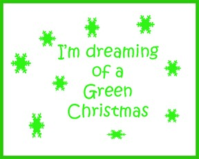 green christmas logo