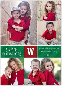 Jazzy photo Christmas card