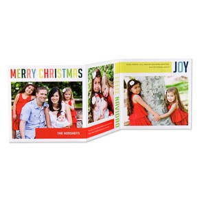 Cute Photo Christmas Cards International Color