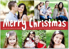 Cute Photo Christmas Cards Merry Modest
